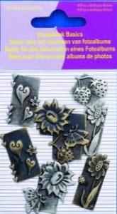 11810-4002 Scrapbook basics embellishments Moestuin  2tot3cm metaal