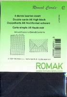 Romak dubbele kaart rechthoek  10,5 x 15 cm