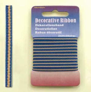 12101-0123-Decorative Ribbon-lint 3mm MultiJeans  5 meter