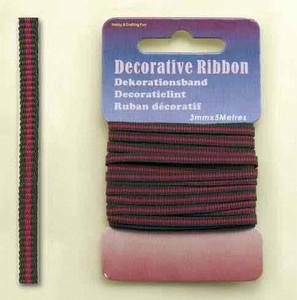 12101-0124 Decorative Ribbon-lint 3mm MultiFuchsia  5 meter