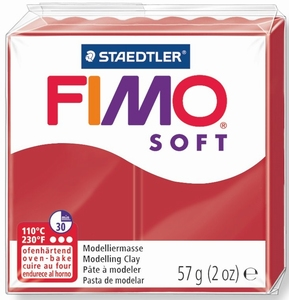 Fimo Soft 02 Kerstrood  57 gram