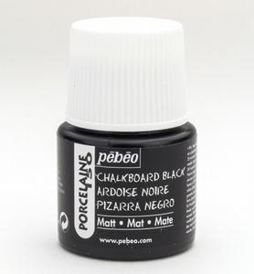 Pebeo porseleinverf: 201 Chalkboard Black matt  flacon 45ml