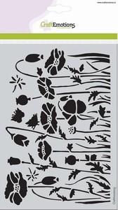 Mask Stencil CE185070_1233 Poppie fields  A5 (20x15cm)