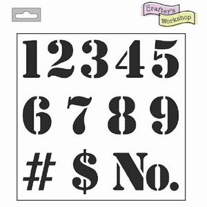 Stencil TCW480 template Number art.3603-621  12inch/30x30cm