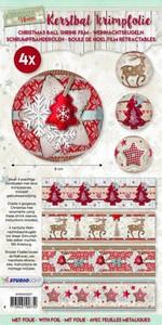 Christmas Sleeves SHRINKSD07 Scandinavian winter  set 4 stuks
