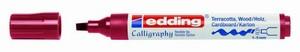 Edding Calligraphy marker 1455_0046 Oud rood 1-5mm (flex)