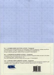 Dubbelzijdig klevend folie A4, 4 vel transparant