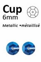 Pailletten Blauw metallic facon 6mm art. 313  5 gram 500stuks