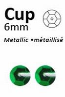 Pailletten Donkergroen metallic facon 6mm art. 319  5 gram 500stuks