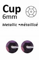 Pailletten Donkerpaars metallic facon 6mm art. 320  5 gram 500stuks