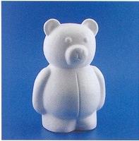 Styropor beer staand klein  15 cm