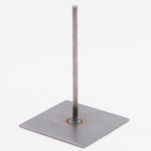 Standaard: Metalen pin 15cm (voet 10x10cm)