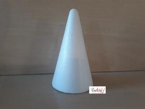 Styropor Kegel 12cm (onderkant doorsnede 7cm)  12cm hoog