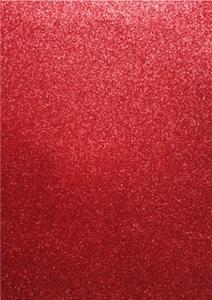 EVA Foam glitter sheets H&C12315-1534 Red  A4/5 vel