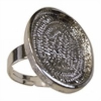 Rhodium ring ovaal 18x25mm, art. JCM120 nikkel vrij