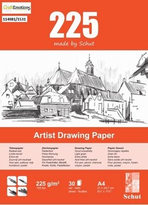 Schut Artist Drawing paper bloc 30vel 225grams art. 1531