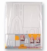 Le Suh kartonnen Schildersezeltje set van 3 stuks 412.951
