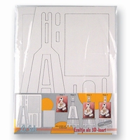 LeSuh kartonnen Schildersezeltje wit/3 stuks 412951