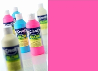 Creall Glow in the dark verf Roze art.5942 250 ml
