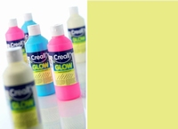 Creall Glow in the dark verf Groengeel art.5941 250 ml