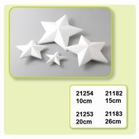 Styropor ster hoekig spitse punten art. VA21254 10cm