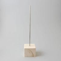 Standaard hout/metaal (blokje 7x7cm) 30cm