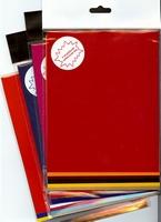 Gekleurde stickerfolie 6 vel SKP-005 rood (1 vel goud) A5
