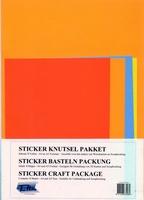 Top Voordeel sticker knutselpakket 8 vel SKP-001 4x A4 + 4x A5