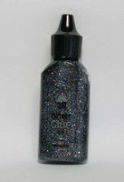 Glitterlijm 118577_0107 Rainbow Antracite 20ml Craftemoti