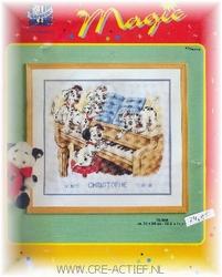 UITVERKOCHTVervaco borduurpakket 101 Dalmatiers aan de piano 31 x 28 cm