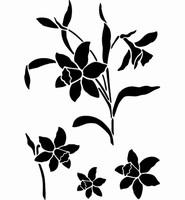 6063 Sjabloon Narcissen (A4) 470.421.702 29 x 21 cm