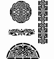 6073 Sjabloon Keltisch 2 (A4) 470.404.000 29 x 21 cm