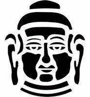 6088 Sjabloon Buddah hoofd (A4) 470.422.701 29 x 21 cm