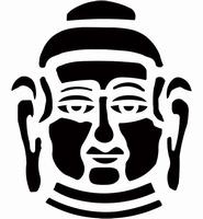 6088 Sjabloon Buddah hoofd (A4) 470.422.701