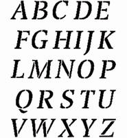 6006 Sjabloon Alfabet hoofdletters 2,5cm hoog 470.005 24x17cm