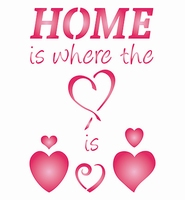 Sjabloon Home is Where the Heart is  470653024 42x30mm