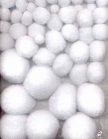 3311 Mix Pompons Wit 50 stuks 1,0 tot 2,5cm