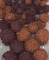 3316 Mix Pompons Bruin 50stuks 1,0 tot 4,0cm