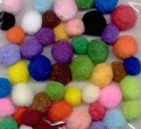 3321 Mix Pompons assortie kleuren 48stuks
