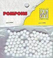 Mini pompons POM001 Wit