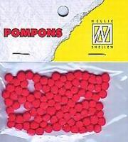 Mini pompons POM002 Scharlaken Rood