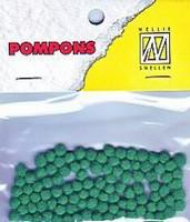 Mini pompons POM004 Emerald Groen