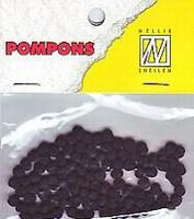 Mini pompons POM011 Zwart