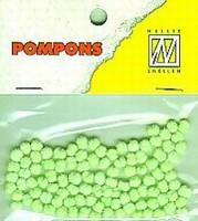 Mini pompons POM014 Neon Groen
