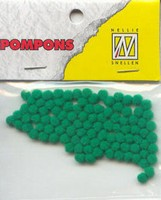 Mini pompons POM018 Kelly green
