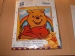 UITVERKOCHT Winnie the Pooh regenboog, Kruissteekkussenpakke 40 x 40 cm