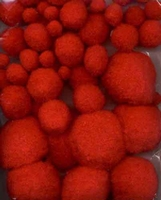 3313 Mix Pompon Rood 50stuks 1,0 tot 4,0cm