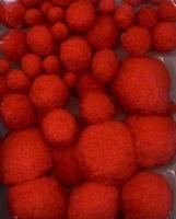 H&C Fun 12233-3313 Mix Pompon Rood 50stuks