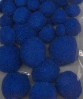 3314 Mix Pompons Blauw 50stuks