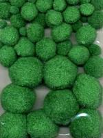 3315 Mix Pompon Groen 50stuks 1,0 tot 4,0cm